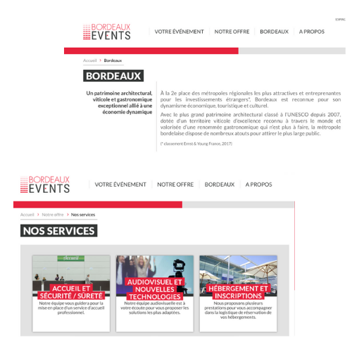 exemple rédaction de contenus bordeaux events