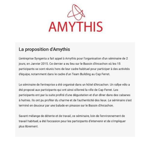 exemple de contenu rédactionnel amythis