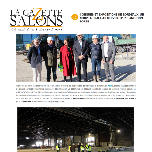 article la gazette des salons ceb