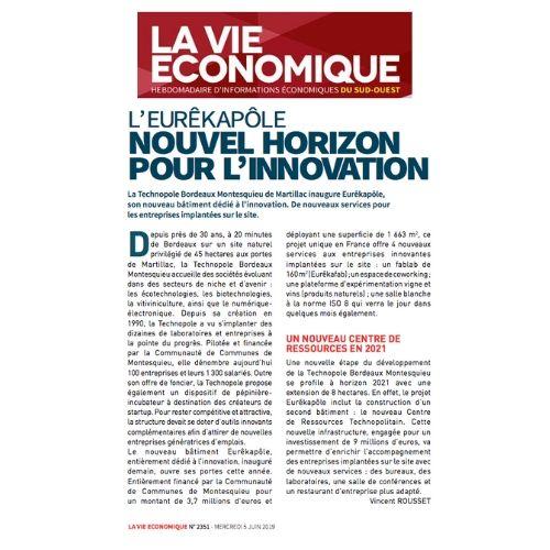 article la vie économique - eurêkapôle